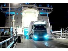 Rekka ulos laivasta illalla