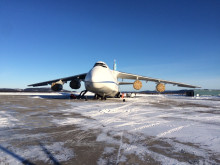 An-124 in Happy Valley-Goose Bay, Canada