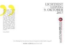 Rückseite der Postkarte zum Lichtfest