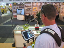 Testing a Cavotec radio remote video link-up at Aimex13