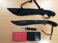 Knife recovered by police