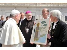 Överlämning av ikon till påve Franciskus