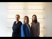 Udstillingschef i Copenhagen Contemporary Jannie Haagemann, kurator og forsker Irene Campolmi og direktør for Copenhagen Contemporary Marie Nipper