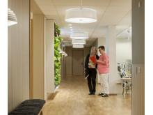 Humana äldreboende i Gävle - belysning i korridorer