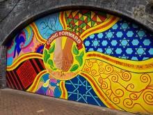 Smethwick Rolfe St mural onplatform one