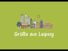 Postkarte: Grüße aus Leipzig