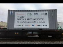 Green Cargo testar automatkoppel i Luleå