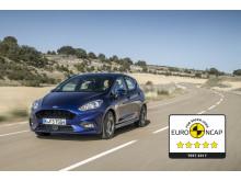 Nya Ford Fiesta får fem stjärnor av Euro NCAP