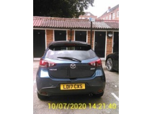 Mazda on 10 July - rear view