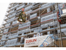 Topping-off ceremony timber high-rise Heilbronn