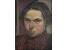 Ester Almqvist, Självporträtt, 1901, olja, Jönköpings läns museum