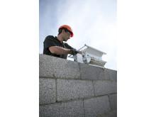 Leca® Block muras effektivt med hjälp av murarlåda