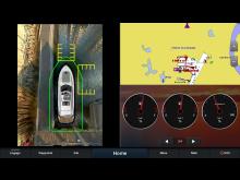 Garmin_SurroundView_mit visuellen Abstandsmarkierungen