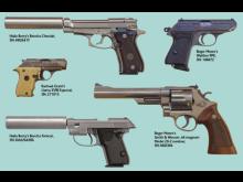 Stolen James Bond guns