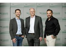 Gemeinsam mit Carsten Groth starteten drei weitere neue Kollegen im Vertrieb Außendienst.