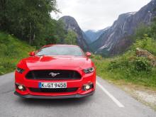 Nye Ford Mustang GT på tur på Vestlandet
