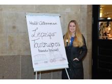 Die Begrüßung der Gäste erfolgte am Eingang der LUDWIG Buchhandlung im Hauptbahnhof Leipzig
