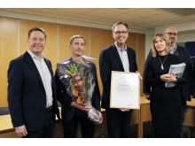 Härryda Årets Konsumentkommun enligt Råd & Rön. Prisutdelning i kommunhuset i Mölnlycke, 25 november 2019.
