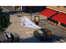 Ford utvikler testbiler som automatisk styrer unna fotgjengere eller bremser ned for å redusere en ev. ulykke
