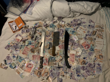 Cash and weapons