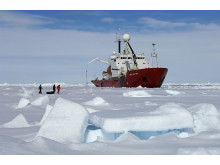 Researchers working in the Antarctic