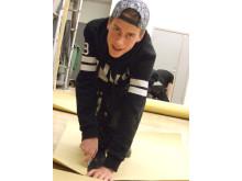 Sebastian Norén utbildar sig till ett framtidsyrke på Kista gymnasium