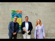 Eröffnung Sportroute Station 17 - v.l. Dr. Anselm Hartinger, Knut Göbel, Antje Brodhun - Foto: Sophie Weinhold