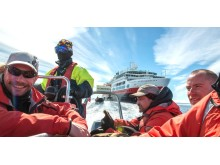 Hurtigruten staff, Antarctica, Half Moon Island