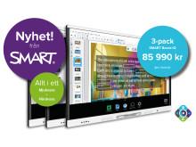 Kampanj 3-pack SMART Board iQ MX