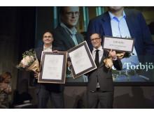 """Torbjörn Isacson och Andreas Cervenka, Svenska Dagbladet. Vinnare år 2015 i kategorin Årets Avslöjande för """"SCA-affären"""":"""