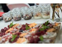 Dessertbord med knäckebröd