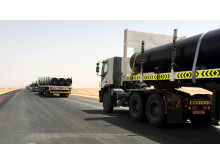 Using a milk-run system, Panalpina had six months to deliver 3,600 pipes to a gas field in Oman