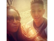 Corey with his mother, Keisha McLeod