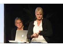 Anette Norberg och Erica Johansson på Logistik & Transport 2011