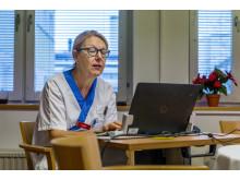 Gunilla Hallberg, överläkare och sektionschef förlossningsvård Akademiska sjukhuset