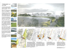 Förslag på Hyllies nya badanläggning visas på utställning - Terasser av vatten