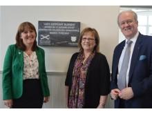 Minister with Cllr Warren and Stewart Stevenson MSP