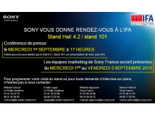 INVITATION Sony IFA 2010