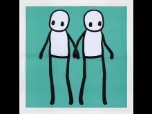 STIK - Holding Hands Poster (Teal)