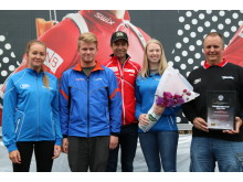 Stårheim IL (Fra venstre: Heidi Flobø Dal, Jørn Smørdal Botn, Ole Einar Bjørndal, Marita Nedreberg og Nils Magne Nedreberg)