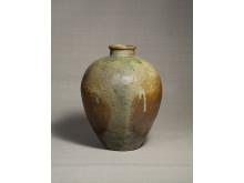 Kruka, Tamba-keramik, 1500-tal glaserad rödlera h. 47 cm, ø 36.5 cm. © Japan Folk Crafts Museum, Tokyo