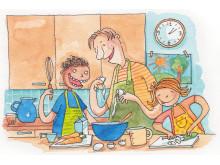 Perhe oppii yhdessä syömään terveellisesti