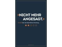 Die Bewertungen sind ab sofort auf City-Light-Postern und -Säulen in ganz Nürnberg zu sehen.