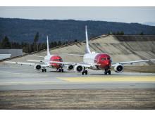 To Norwegian-fly Oslo