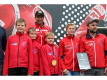 Voss skiskyttarlag (Fra venstre: Sander Vik, Marius Vik, Styrk Himle Istad, Johannes S. Græe og Jan Erik Græe)
