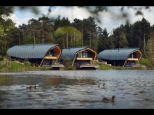 Waterside Lodge Exterior at Elveden Forest