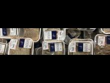 Klippfisk av sei i disk_på supermarked Dominkianske republikk