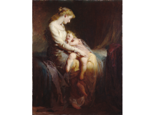 George E. Hicks - Mother and Child, 1873 - Manchester Art Gallery