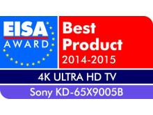EISA Award 2014_KD-65X9005B de Sony