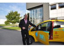 Kåge Schildt väljer elbils-taxi